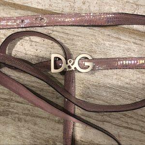 Vintage Dolce & Gabbana D&G Logo Belt or Bracelet